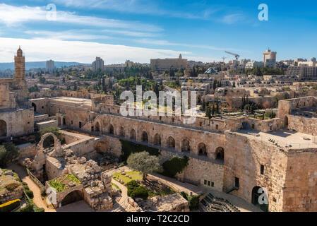 Vieille ville de Jérusalem et la tour de David