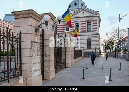 Streetview en face de l'Hôpital d'Colțea à Bucarest, Roumanie Banque D'Images