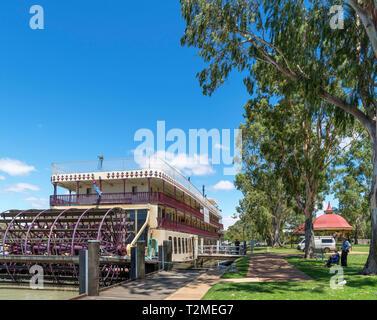 Murray River, en Australie. Le bateau à aubes Murray Princess amarré à La Bruyere sur la rivière Murray, en Australie du Sud, Australie Banque D'Images