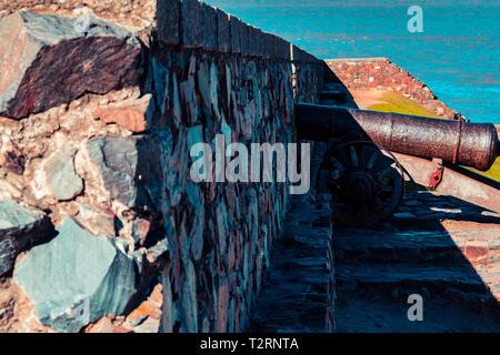 Construction ancienne observé sous un angle différent. Photo prise en Uruguay Banque D'Images