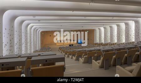 Salle de conférences, les professeurs et le Collège d'études islamiques, Hamad Bin Khalifa University, de l'éducation Ville, Doha, Qatar Banque D'Images