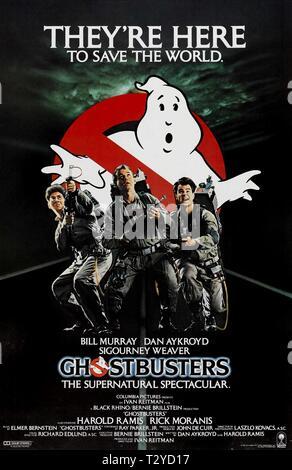 HAROLD RAMIS, Bill Murray, Dan AYKROYD POSTER, Ghostbusters, 1984 Banque D'Images