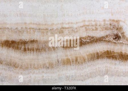 Texture avec onyx lumière milieu ligne marron. Banque D'Images