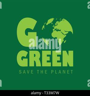 Rendez-vous sauver la planète verte vecteur EPS10 concept illustration Banque D'Images