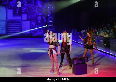 ISkate, glace, l'harmonie de la mer Banque D'Images