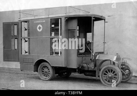 Ambulance militaire, 1915-1918 Banque D'Images