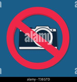 Signe interdit caméra vector illustration Banque D'Images