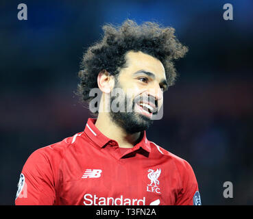 Anfield, Liverpool, Royaume-Uni. Apr 9, 2019. Ligue des Champions de football, quart de finale 1ère manche, Liverpool contre le FC Porto, Mohamed Salah de Liverpool : Action Crédit Plus Sport/Alamy Live News Banque D'Images