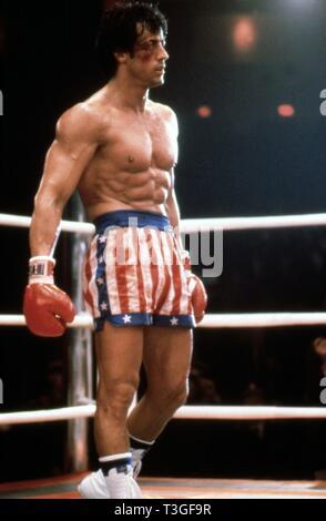 Rocky 4 Année: 1985 USA Réalisateur: Sylvester Stallone Sylvester Stallone Banque D'Images