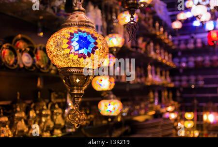 Lampe suspendue Ramadan Concept Background Banque D'Images