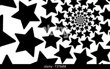 Spirale d'étoiles isolé sur un fond blanc. L'élément de conception. Banque D'Images
