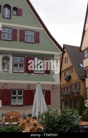 Crailsheim Allemagne, scène de rue maisons traditionnelles sur l'image Banque D'Images