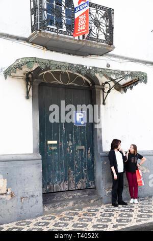 Maison à vendre à l'abandon aux Açores Banque D'Images