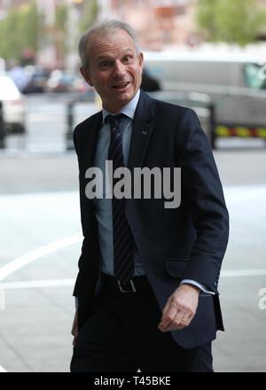Londres, Royaume-Uni. 14 avr, 2019. David Lidington arrive à la BBC studios Crédit: WFPA/Alamy Live News