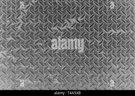 Haut Afficher le quadrillage de la surface de la plaque de métal vieux background et texture. Banque D'Images