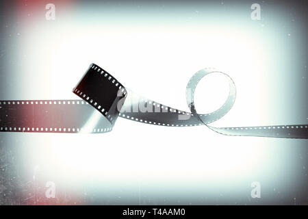 Film du monochrome vide caméra analogique sur un fond style rétro