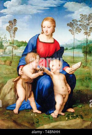 Raphaël, la Madone du chardonneret, peinture, ch. 1505 Banque D'Images