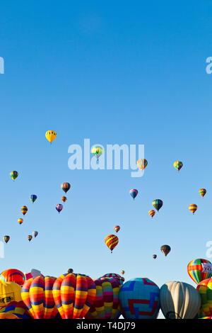 Hot Air Balloon Fiesta, Octobre, 2010. Albuquerque, Nouveau Mexique, USA. Banque D'Images