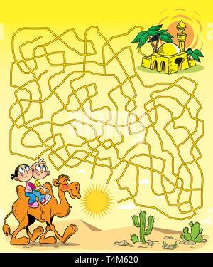 Croquis vecteur oasis dans le désert Vecteurs Et Illustration, Image Vectorielle: 175741273 - Alamy
