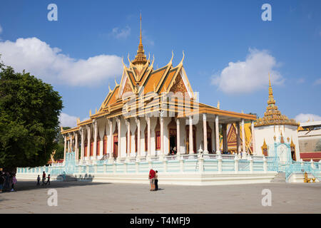 La Pagode d'argent à l'intérieur de l'enceinte du Palais Royal, Phnom Penh, Cambodge, Asie du Sud, Asie Banque D'Images