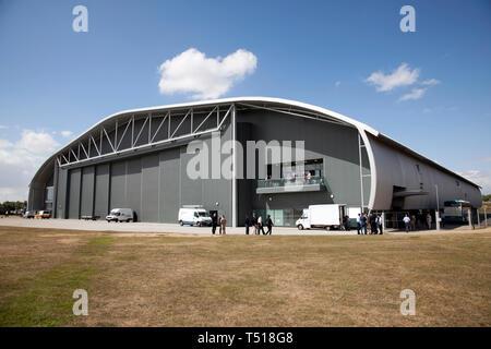 Hangar à l'Imperial War Museum Duxford Cambridgeshire, Angleterre,. Banque D'Images