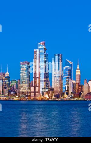 Toits de New York Hudson Yards Côté ouest Banque D'Images
