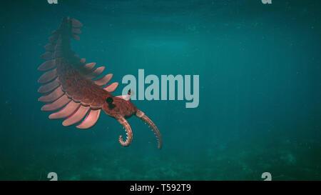 Anomalocaris, créature de la période cambrienne (illustration 3d paleoart)