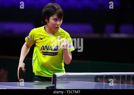 Miu Hirano Jpn Le 23 Avril 2019 Tennis De Table