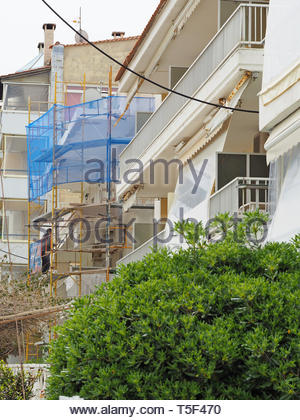 Processus de restauration de bâtiments anciens Banque D'Images