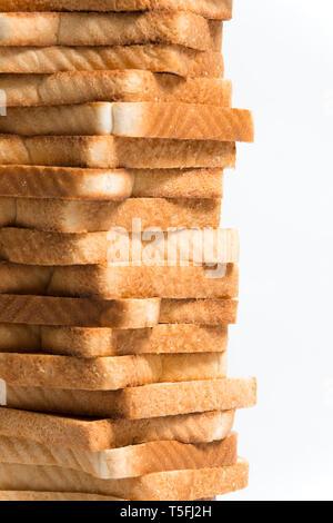 Close up detail d'une tour de pain grillé