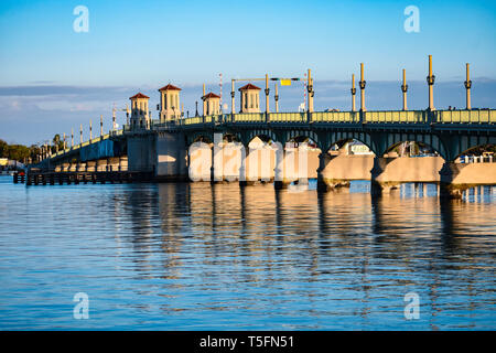 Saint Augustin, en Floride. 26 janvier , 2019. Pont des Lions au magnifique vieille ville sur fond de ciel en Floride Côte Historique (3)