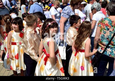 Rose Festival à Kazanlak. Province de Stara Zagora BULGARIE. Banque D'Images