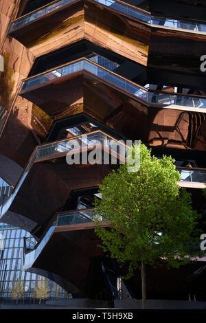 Art interactif navire à Hudson Yards, New York City Banque D'Images
