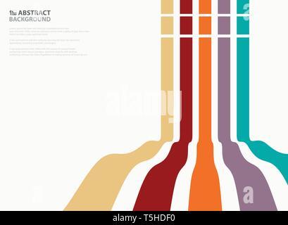 Résumé de ligne ondulée couleur pattern design arrière-plan. La présentation dans les lignes verticales. illustration vector eps10 Banque D'Images