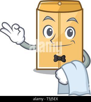 Serveur de courrier enveloppe dans la mascot penderie Banque D'Images