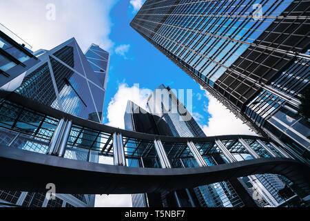 Centre d'affaires moderne à Hongkong. Gratte-ciel en zone commerciale à Hongkong. Banque D'Images