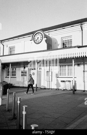 La gare de Winchester, Hampshire, Angleterre, Royaume-Uni. Banque D'Images