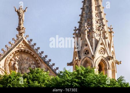 La cathédrale catholique de style gothique médiéval Palma de Majorque La Seu, Espagne Europe Banque D'Images