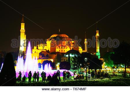 Sainte-sophie à Istanbul, Turquie tôt dans la soirée Banque D'Images