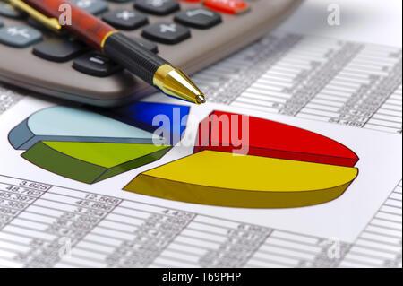 Tableau financier montre à succès bourse Banque D'Images
