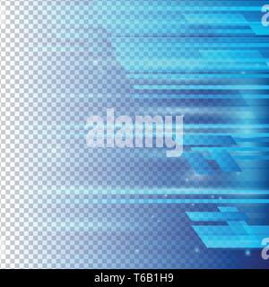 Les éléments géométriques de couleur bleu abstract vector avec fond transparent Banque D'Images