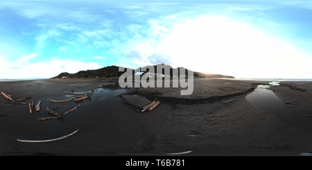 Flux de bois jonché ohope beach Banque D'Images