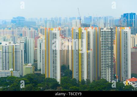 Immobiliers de Singapour. Immeuble d'appartements. Banque D'Images