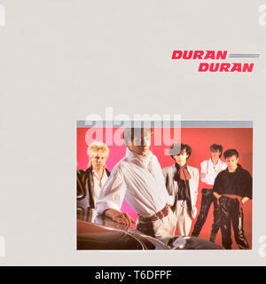 Vinyle original de Duran Duran Duran Duran - couverture de l'album - 1981 Banque D'Images