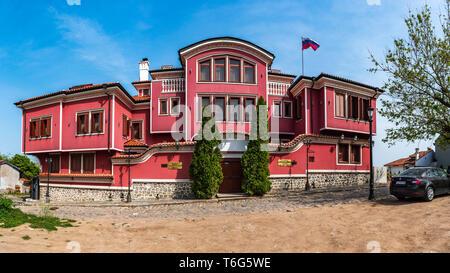 Maison traditionnelle dans la vieille ville de Plovdiv, Bulgarie ville. Peter premier restaurant et la résidence Banque D'Images