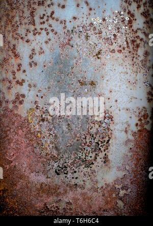 Résumé motif rouille sur metal texture background Banque D'Images