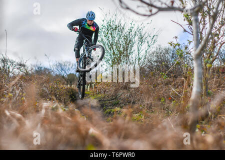 Steeple Hill MTB VTT enduro Banque D'Images