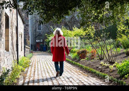 Dunbar est proche jardin en vieille ville de Canongate à Édimbourg, Écosse, Royaume-Uni Banque D'Images