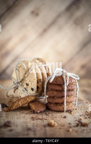 Divers sablés, biscuits d'avoine, pépites de chocolat biscuit.