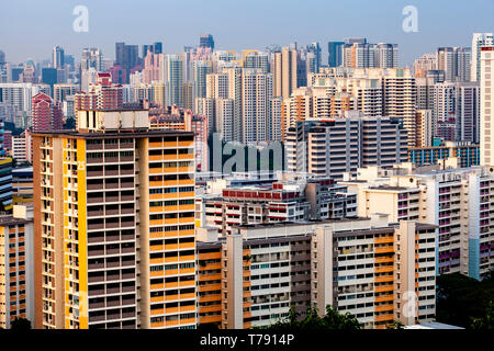 Les immeubles à appartements et de Singapour, Singapour, en Asie du sud-est Banque D'Images